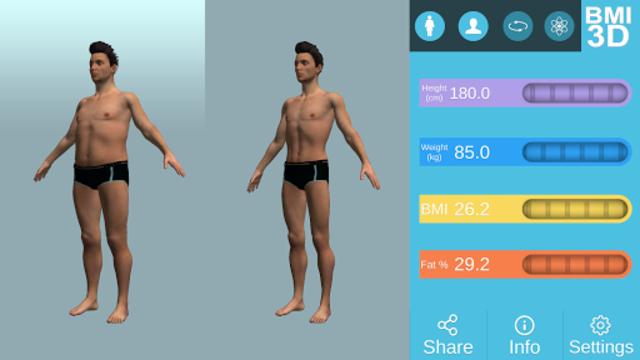 BMI 3D Pro (3D BMI Calculator) screenshot 9
