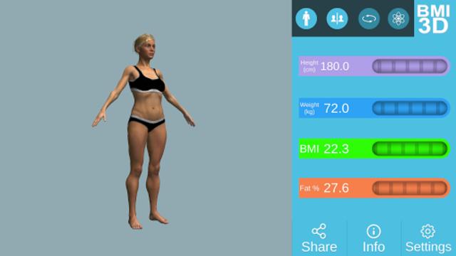 BMI 3D Pro (3D BMI Calculator) screenshot 10