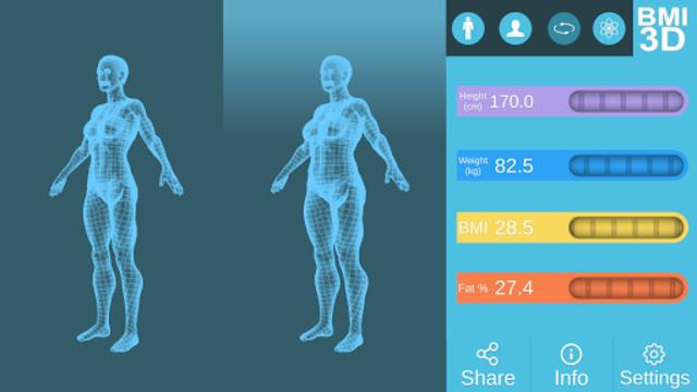 BMI 3D Pro (3D BMI Calculator) screenshot 11