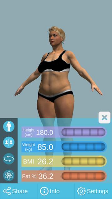 BMI 3D Pro (3D BMI Calculator) screenshot 4