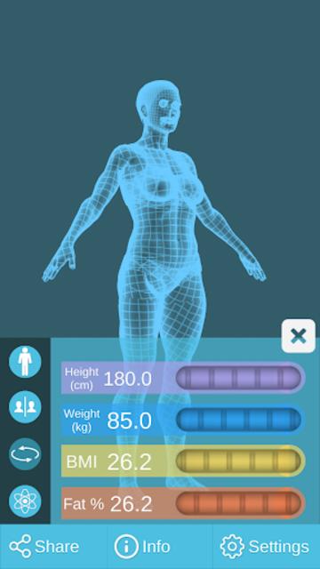 BMI 3D Pro (3D BMI Calculator) screenshot 5