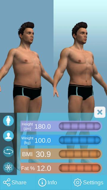 BMI 3D Pro (3D BMI Calculator) screenshot 6