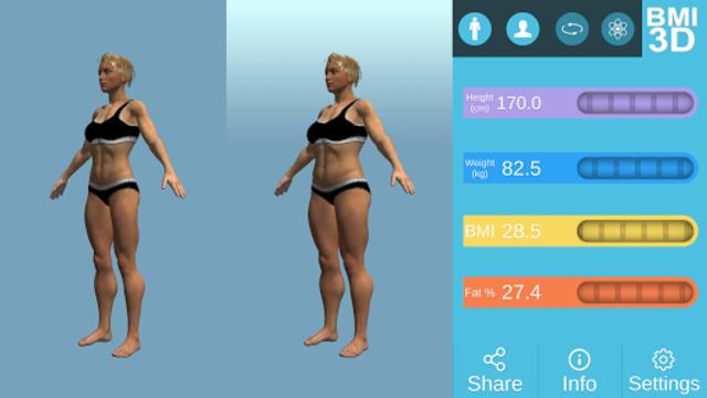 BMI 3D - Body Mass Index in 3D screenshot 16
