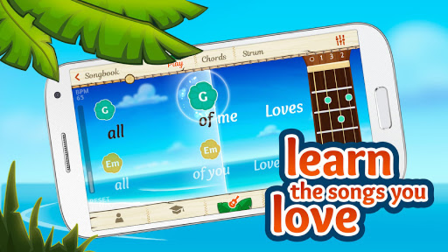 Ukulele Tuner and Learn Ukeoke screenshot 1