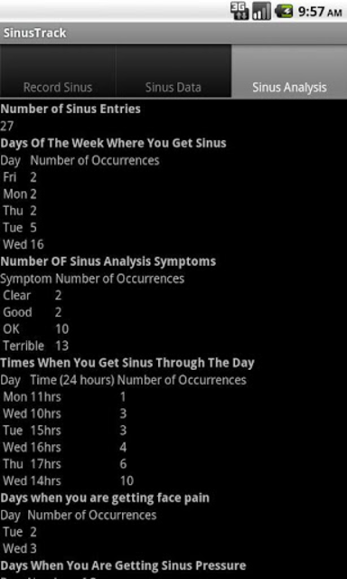 SinusTrack screenshot 4