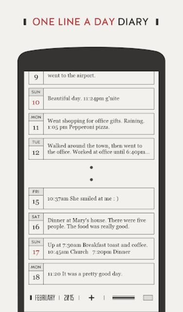 DayGram - One line a day Diary screenshot 1