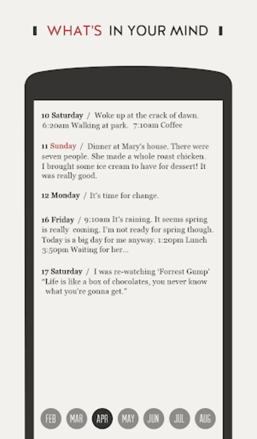 DayGram - One line a day Diary screenshot 3