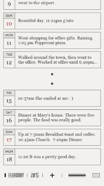 DayGram - One line a day Diary screenshot 5