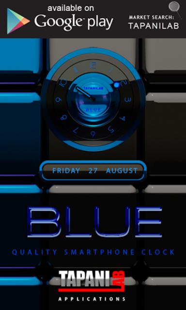 Next Launcher Theme black blue screenshot 3