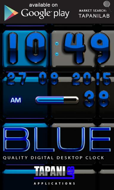 Next Launcher Theme black blue screenshot 4