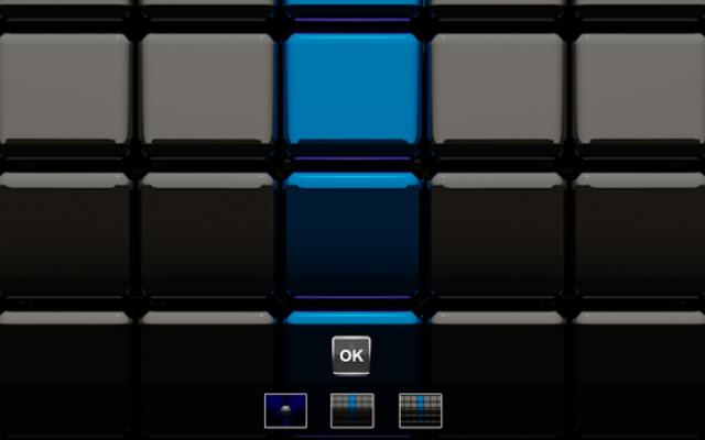 Next Launcher Theme black blue screenshot 7