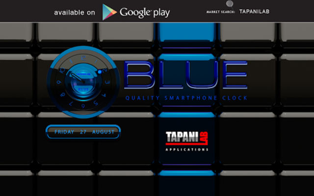 Next Launcher Theme black blue screenshot 8