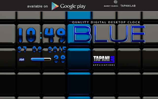 Next Launcher Theme black blue screenshot 9