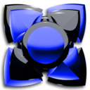 Icon for Next Launcher Theme black blue