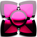 Icon for pink black 3D Next Launcher