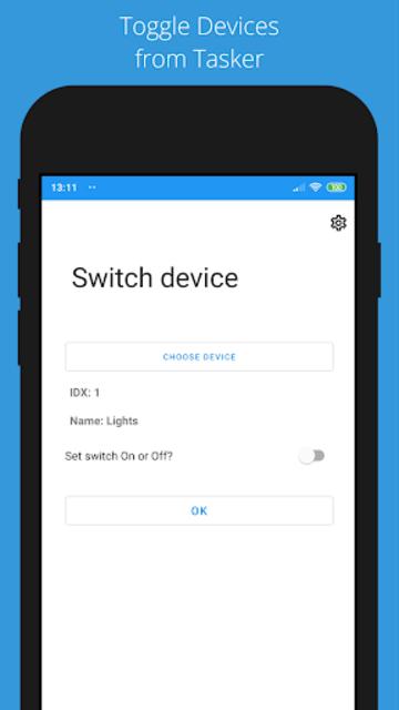 Domoticz Plug-In for Tasker screenshot 5
