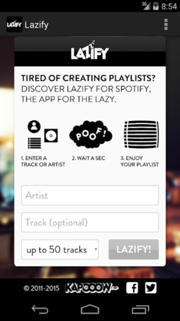 Lazify screenshot 1