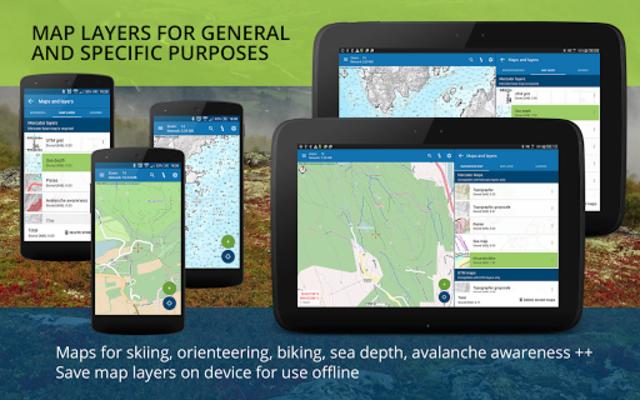 Norgeskart outdoors - Offline maps & trips Norway screenshot 12