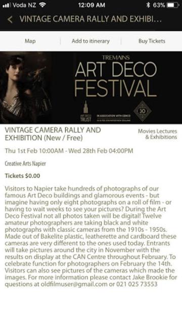 Art Deco Napier - Self Guided Tour and Event Guide screenshot 1