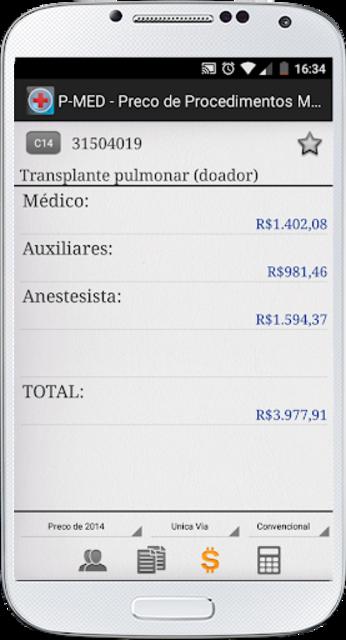PMED - Preço de Procedimento Médico TUSS CBHPM AMB screenshot 3