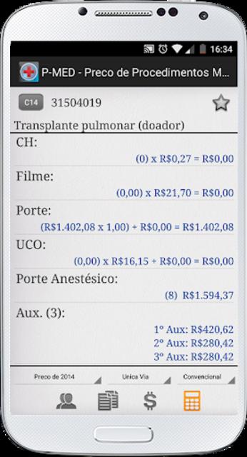 PMED - Preço de Procedimento Médico TUSS CBHPM AMB screenshot 4
