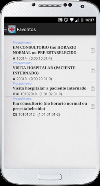 PMED - Preço de Procedimento Médico TUSS CBHPM AMB screenshot 6
