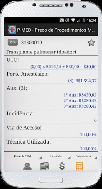 PMED - Preço de Procedimento Médico TUSS CBHPM AMB screenshot 7