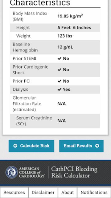 CathPCI Risk Calculator screenshot 5