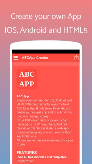 App Builder Create own app screenshot 1