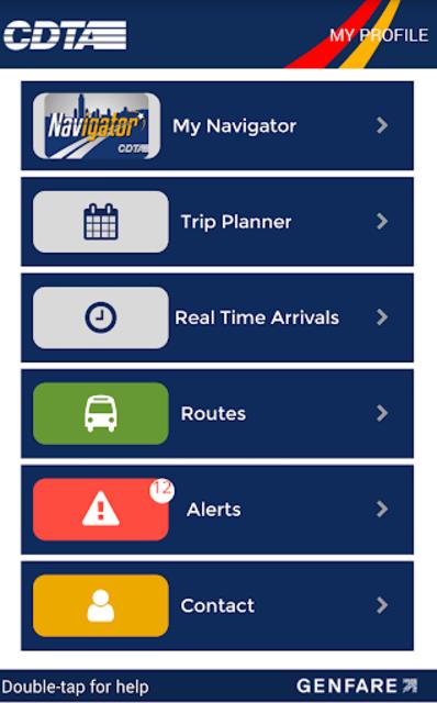 CDTA Navigator screenshot 2