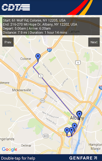 CDTA Navigator screenshot 4