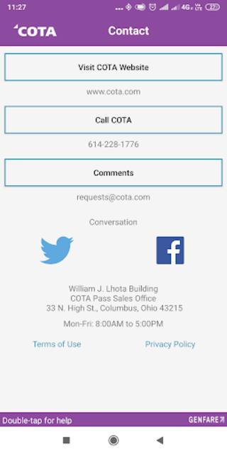 COTA Connector screenshot 3