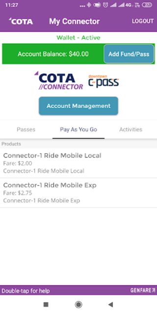 COTA Connector screenshot 4