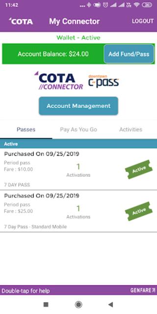 COTA Connector screenshot 5