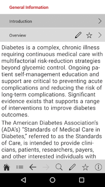 American Diabetes Association Standards of Care screenshot 3