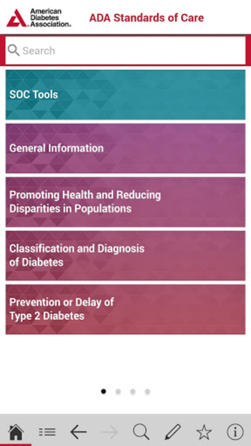 American Diabetes Association Standards of Care screenshot 1