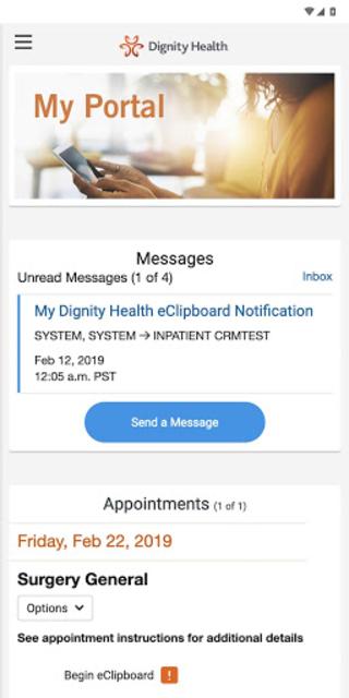 my portal. by Dignity Health screenshot 1