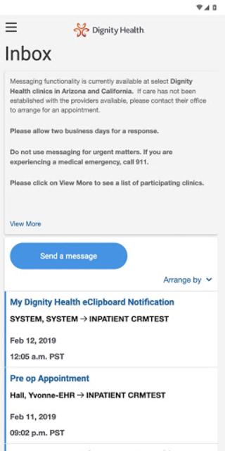 my portal. by Dignity Health screenshot 4