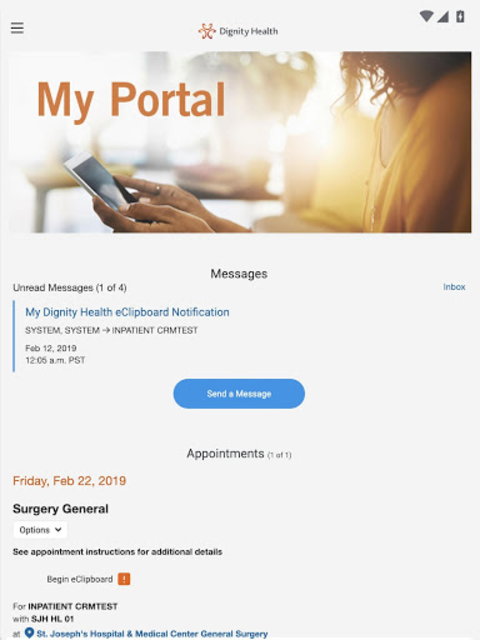 my portal. by Dignity Health screenshot 6