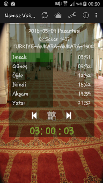 Namaz Vakitleri screenshot 1