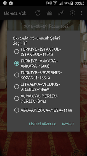 Namaz Vakitleri screenshot 2