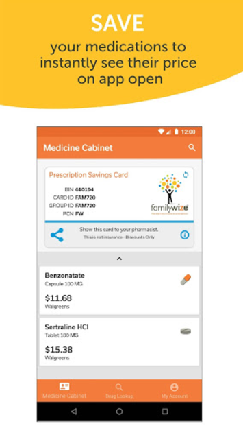 FamilyWize Prescription Discount Card screenshot 2