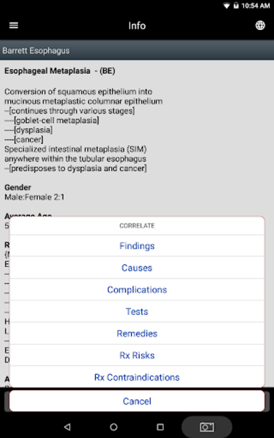 STATworkUP DDx Clinic Differential Diagnosis Guide screenshot 11