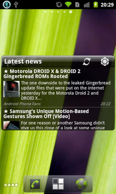 Pure news widget (scrollable) screenshot 2