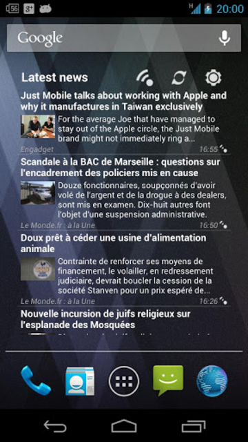 Pure news widget (scrollable) screenshot 4