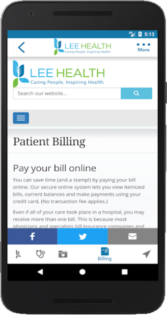 Lee Health Mobile screenshot 7