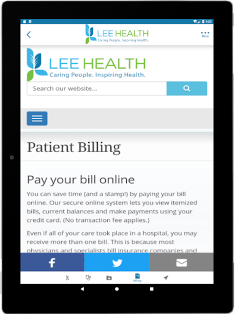 Lee Health Mobile screenshot 13