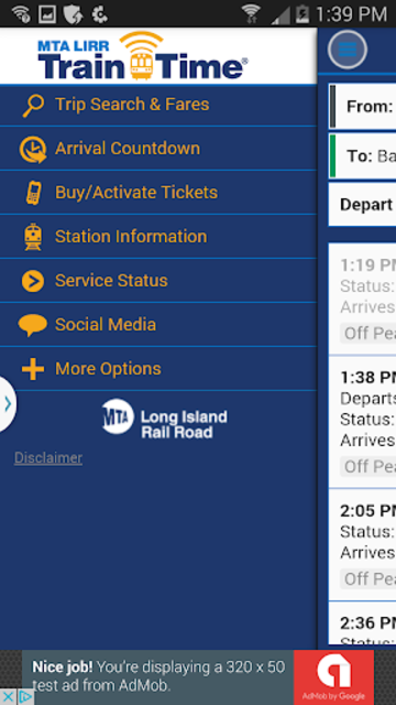 LIRR TrainTime screenshot 1