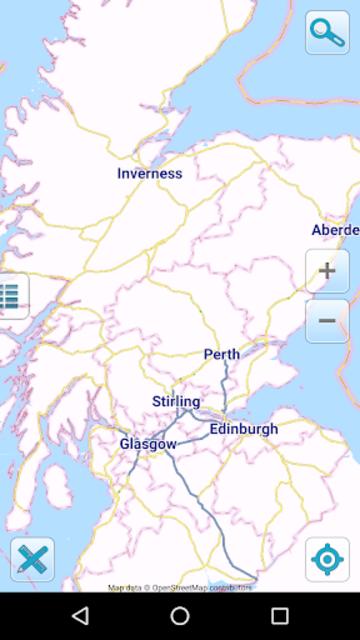 Map of Scotland offline screenshot 1