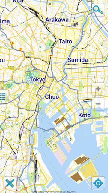 Map of Tokyo offline screenshot 1